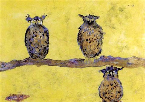 owls in a sun haze by sir francis cyril rose