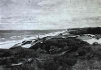 meeresküste mit dünen by gertrud staats