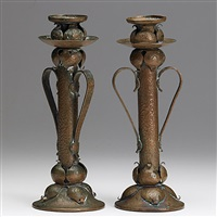 candlesticks (2 pieces) by onondaga metal shops