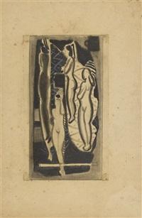 ohne titel (komposition mit vier weiblichen akten) by max ackermann