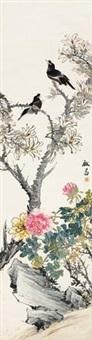 花间双雀 by deng tiexian