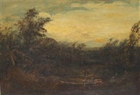 a country lane by david cox the elder