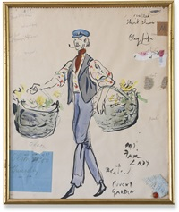 costume study for a flower seller in my fair lady by cecil beaton