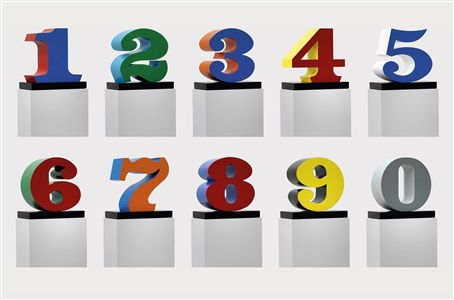 numbers one through zero by robert indiana