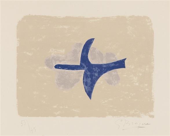 dans le ciel (oiseau xv) by georges braque