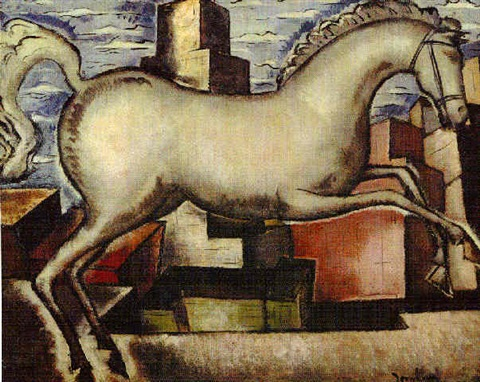 horse in a cityscape by bradley walker tomlin