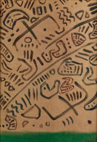 geroglifici frühhistorische kalligraphie by giuseppe capogrossi