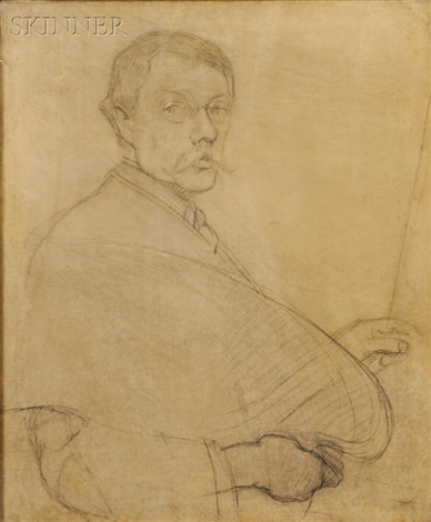 study for self portrait by philip leslie hale