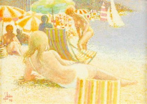 young girl at the beach by louis fabian
