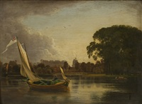 on the thames at twickenham by james holland