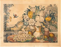 landscape, fruit & flowers by currier & ives (publishers)