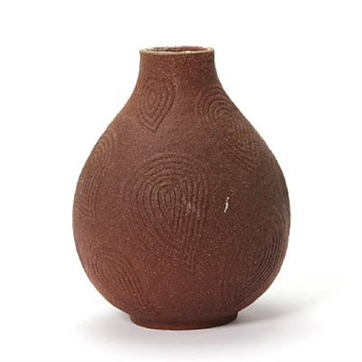 unglazed vase by axel johann salto