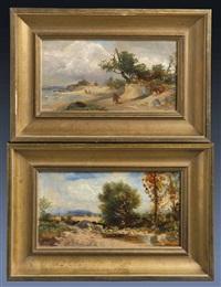 kleine landschaftsstudien (pair) by leonhard ratschiller