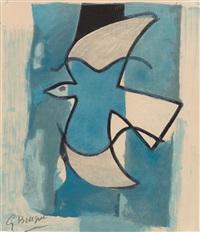 loiseau bleu et gris by georges braque