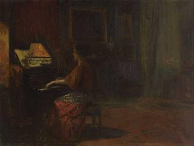 dame am klavier by frederick vezin