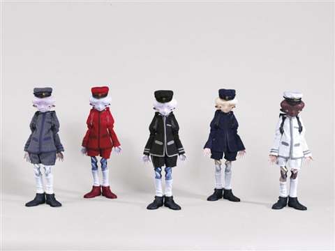 inochi doll zhang david victor yamamoto and bob set of 5 by takashi murakami
