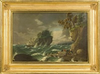 stormy sea by john sherburne blunt