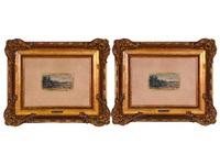 paisajes (pair) by eugenio lucas velázquez