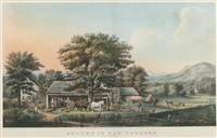 autumn in new england. cider making by currier & ives (publishers)