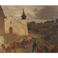 village dans le haut-valais by louis dunki