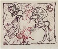 tête dans la tête 1964 / hors-texte iv (aus: carré blanc) 1965 / pour malcolm lowry 1969 by pierre alechinsky