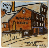 paul revere's house north square tile by paul revere