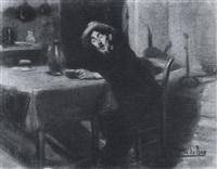 homme dans un café by constantin le roux