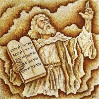 moses and the tablets of the law by shaked reznikov