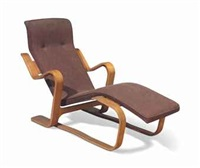 a laminated birch lounge chair by marcel breuer