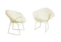 diamond n. 421lu coppia di sedie by harry bertoia