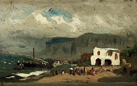 pärlfiskares ankomst till capri by olof arborelius