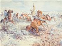 wild horse roundup by edward burns quigley