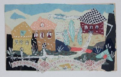 dorf mit blühenden vorgärten by elisabeth ahnert