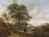 eine landschaft mit wanderern by pieter jansz van asch
