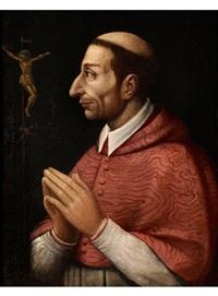 der heilige carlo borromeo im gebet vor einem kruzifix by anonymous-italian (17)