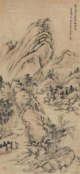 岩居秋爽图 (landscape) by xi gang