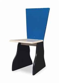 a lacquered wood chair by alessandro mendini