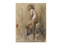 desnudo femenino by antonio mancini