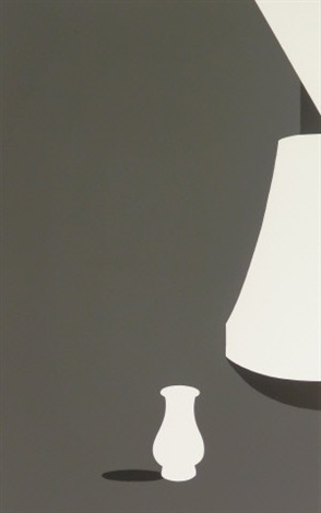 lamp and kuan ware (from white ware suite) by patrick caulfield