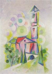 kirche von lugano by joseph friedrich gustav binder