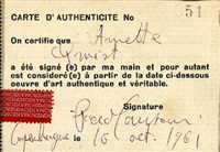 carta d'autenticità (declaration of authenticity) by piero manzoni
