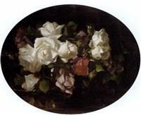 still life of roses by david alison