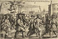 der triumpf des ruhmes, pl.3 (from petrarca. trionfi) by georg pencz