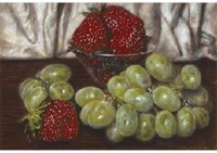 strawberry and grape by masahiko yamanaka