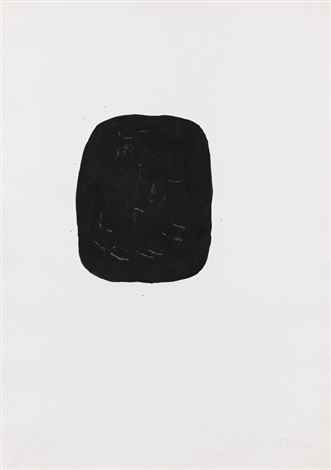 concetto spaziale noir avec trous extérieurs by lucio fontana