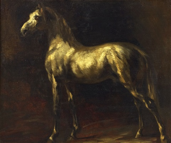 der schimmel cheval gris by théodore géricault