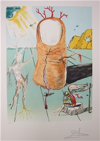 vision of the angel of cape creus by salvador dalí