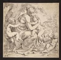 figura femminile con tre putti (carità) by paolo farinati