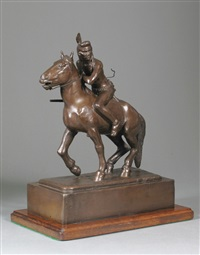 an indian scout on pony by edward burns quigley