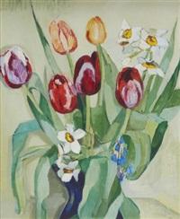 floral still-life by lydia dmitrievsky